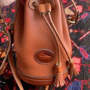 Dooney and Bourke saddle brown bucket bag